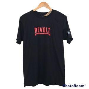 """NWT """"Revolt"""" T-Shirt Black Sustainu Clothing"""